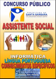 Apostila Impressa Concurso SANTA BÁRBARA - PA 2019 - Assistente Social