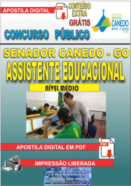 Apostila Digital SENADOR CANEDO/GO 2020 - Assistente Educacional