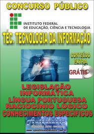 Apostila Impressa Concurso INSTITUTO FEDERAL DE EDUCAÇÃO, CIÊNCIA E TECNOLOGIA DO PARÁ - IFPA - PA - 2019 - Técnico de tecnologia da informação
