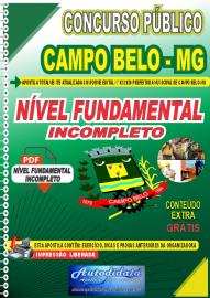 Apostila Digital Concurso Público Prefeitura de Campo Belo - MG 2020 Fundamental Incompleto