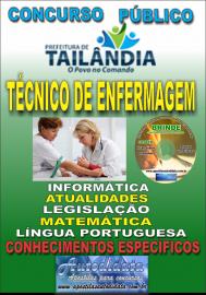 Apostila Impressa TAILÂNDIA/PA 2019 - Técnico De Enfermagem