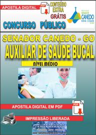 Apostila Digital SENADOR CANEDO/GO 2020 - Auxiliar De Saúde Bucal