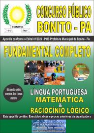 Apostila Impressa Concurso Público Prefeitura de Bonito - PA 2020 Fundamental Completo