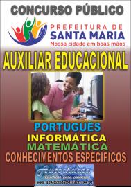 Apostila digital concurso de SANTA MARIA DO PARÁ-PA 2018 - Auxiliar Educacional