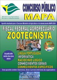 Apostila Impressa Concurso Público do MAPA - 2020 Fiscal Federal Agropecuário - Zootecnista
