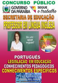 Apostila Impressa Concurso SEECT/PB - 2019 - Professor De Língua Inglesa