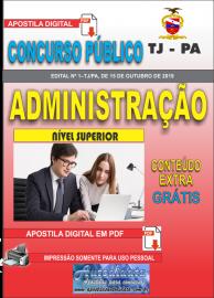 Apostila Digital Concurso TJ-PA 2019 Administração