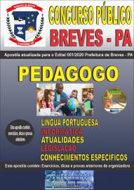 Apostila Impressa Concurso Público Prefeitura de Breves - PA 2020 Pedagogo
