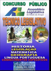 Apostila Impressa Concurso ASSEMBLEIA LEGISLATIVA DO AMAPÁ - 2019 - Técnico Legislativo