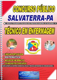 Apostila Impressa Concurso Público Prefeitura de Salvaterra - PA  2020 Técnico em Enfermagem