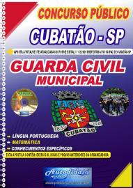 Apostila Impressa Concurso Público Prefeitura de Cubatão - SP 2020 Guarda Civil Municipal