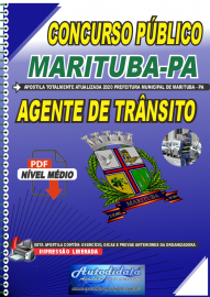 Apostila Digital Concurso Público Prefeitura de  Marituba - PA 2020  Agente de Trânsito
