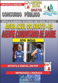 Apostila Digital Concurso ÁGUA AZUL DO NORTE/PA 2019 - Agente Comunitário De Saúde