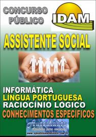 Apostila Impressa Concurso IDAM - AM 2018 - Assistente Social
