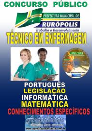 Apostila Impressa Concurso PREFEITURA MUNICIPAL DE RURÓPOLIS - PA - 2019 - Técnico Em Enfermagem