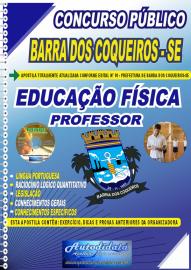 Apostila Impressa Concurso Público Prefeitura de Barra dos Coqueiros - SE 2020 Professor de Educação Física