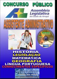 Apostila Impressa Concurso ASSEMBLEIA LEGISLATIVA DO AMAPÁ - 2019 - Assistente Administrativo