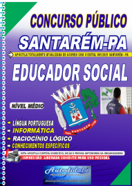 Apostila impressa concurso de SANTARÉM-PA 2021 - EDUCADOR SOCIAL
