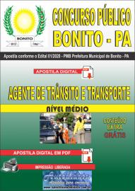 Apostila Digital Concurso Público Prefeitura de Bonito - PA 2020 Agente de Trânsito e Transporte