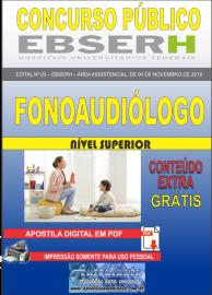 Apostila Digital Concurso EBSERH - 2019 Fonoaudiólogo