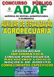 Apostila Digital Concurso ADAF - AM - 2018 - Auxiliar de Fiscalização Agropecuária