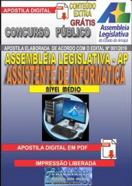 Apostila Digital Concurso ASSEMBLEIA LEGISLATIVA DO AMAPÁ - 2019 - Assistente De Informática