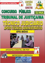 Apostila Digital TJ-MA 2019 - Técnico Judiciário / Apoio Técnico Administrativo