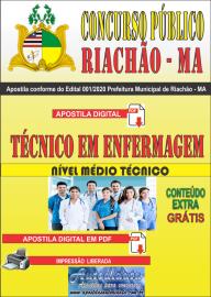 Apostila Digital Concurso Público Prefeitura e Câmera Municipal de Riachão - MA 2020 Técnico em Enfermagem