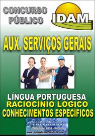 Apostila Impressa Concurso IDAM - AM 2018 Auxiliar de Serviços Gerais