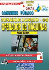 Apostila Digital SENADOR CANEDO/GO 2020 - Operador De Máquinas