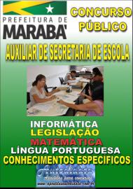 Apostila Impressa Concurso MARABÁ - PA 2018 - Auxiliar De Secretaria De Escola