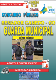 Apostila Digital SENADOR CANEDO/GO 2020 - Guarda Municipal