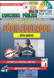 Apostila Digital BOA VISTA/RR 2019 - Sócio educador
