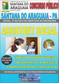 Apostila Impressa Concurso  Prefeitura Municipal de Santana do Araguaia - PA 2019 Assistente Social