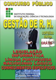 Apostila Impressa Concurso INSTITUTO FEDERAL DE EDUCAÇÃO, CIÊNCIA E TECNOLOGIA DO PARÁ - IFPA - PA - 2019 - Gestão de recursos humanos
