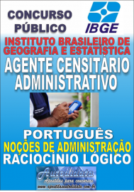 Apostila Digital Concurso do IBGE 2017 - Agente Censitário Administrativo