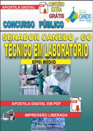 Apostila Digital SENADOR CANEDO/GO 2020 - Assistente De Saúde/Técnico Em Laboratório