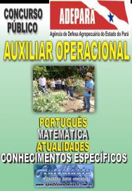 Apostila Concurso da ADEPARÁ 2015 - AUXILIAR OPERACIONAL