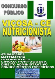 Apostila Impressa Concurso VIÇOSA DO CEARÁ - CE - 2018 - Nutricionista
