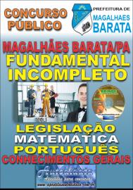 Apostila Impressa Concurso de MAGALHÃES BARATA/PA 2019 – Fundamental Incompleto