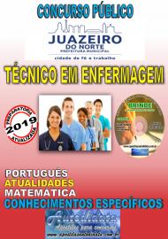 Apostila Impressa Concurso JUAZEIRO DO NORTE - CE - 2019 - Técnico em Enfermagem