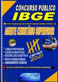 Apostila Impressa concurso do IBGE em PDF 2021 - AGENTE CENSITÁRIO SUPERVISOR (ACS).