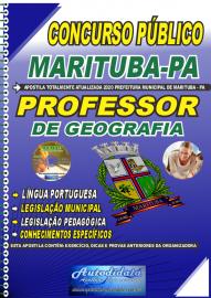 Apostila Impressa Concurso Público Prefeitura de  Marituba - PA 2020 Professor de Geografia