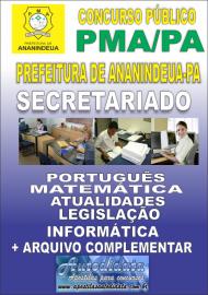 Apostila Impressa ANANINDEUA/PA 2019 - Secretariado