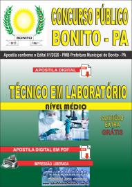 Apostila Digital Concurso Público Prefeitura de Bonito - PA 2020 Técnico em Laboratório