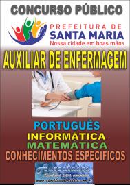 Apostila impressa concurso de SANTA MARIA DO PARÁ-PA 2018 - Auxiliar de Enfermagem