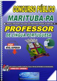 Apostila Digital Concurso Público Prefeitura de  Marituba - PA 2020 Professor de Língua de Portuguesa