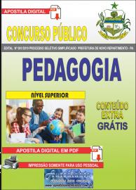 Apostila Digital Concurso Prefeitura Municipal Novo Repartimento - PA 2019 Pedagogia