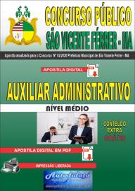 Apostila Digital Concurso Público São Vicente Férrer - MA 2020 Auxiliar Administrativo