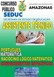 Apostila Impressa Concurso SEDUC-AM 2018 - Assistente Técnico